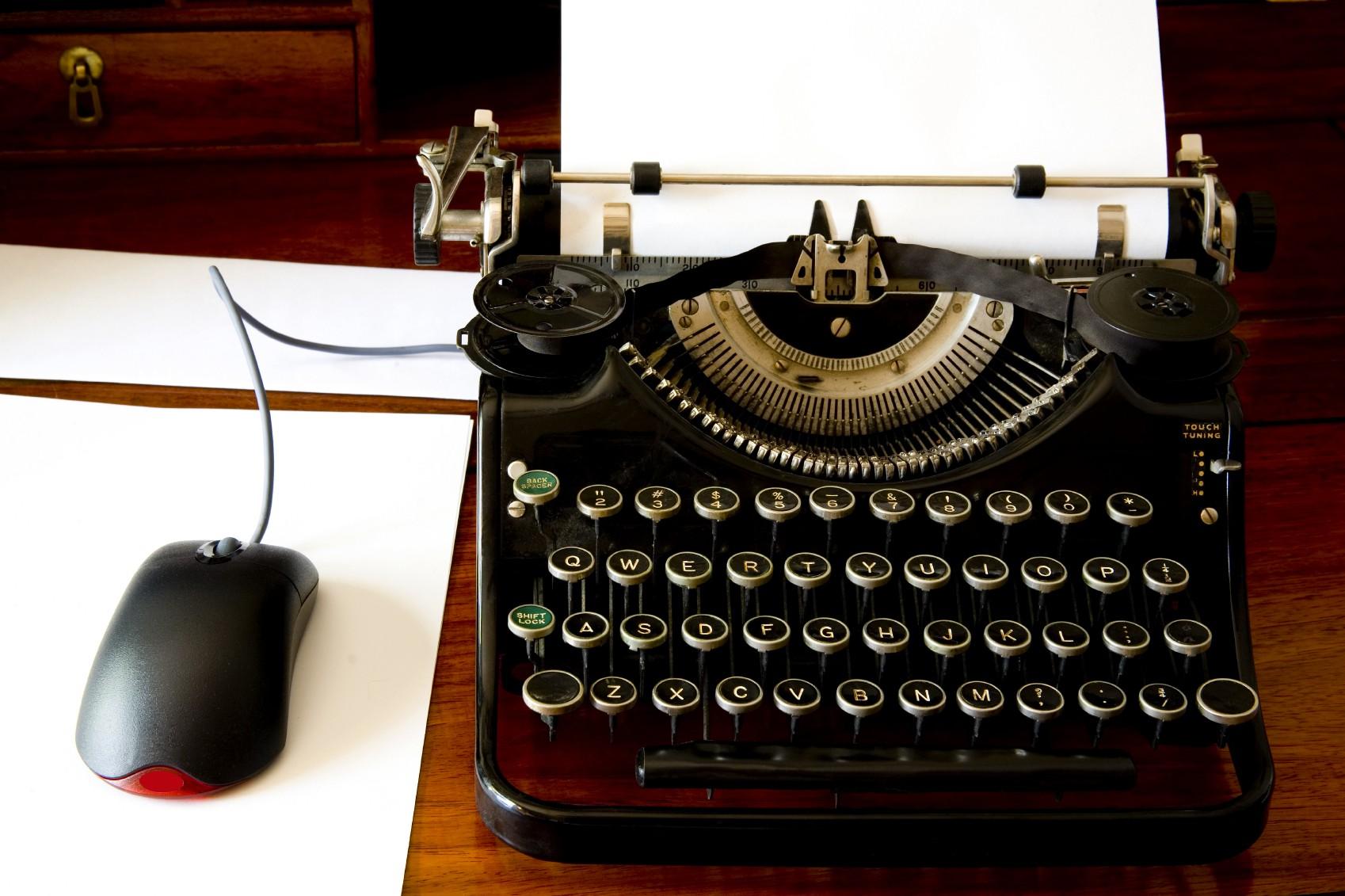 Old type writer.